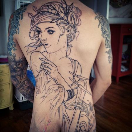 Tattoos - Backpiece in progress - 97734