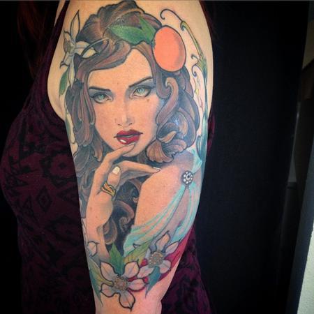 Tattoos - Orange blossom fairy  - 100420