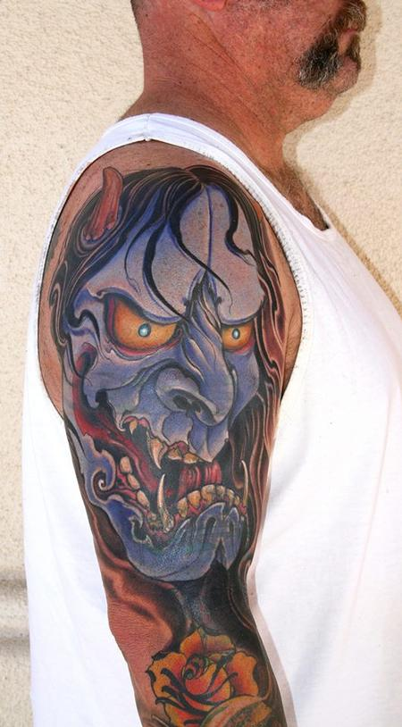 Tattoos - Hannya Mask Cover up  - 80143