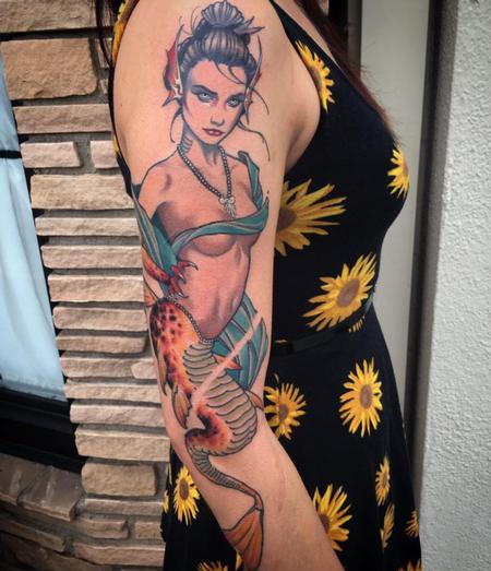 Tattoos - geisha mermaid - 114649