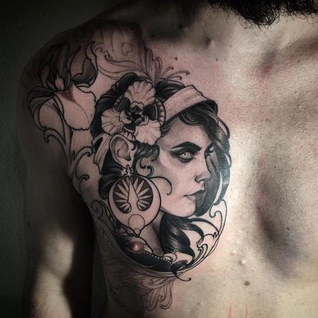 Iris and peacock gypsy on Noah Tattoo Design