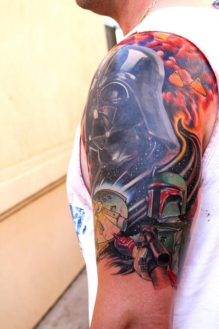 jeff norton tattoos tattoos body part arm sleeve star wars sleeve cover up. Black Bedroom Furniture Sets. Home Design Ideas
