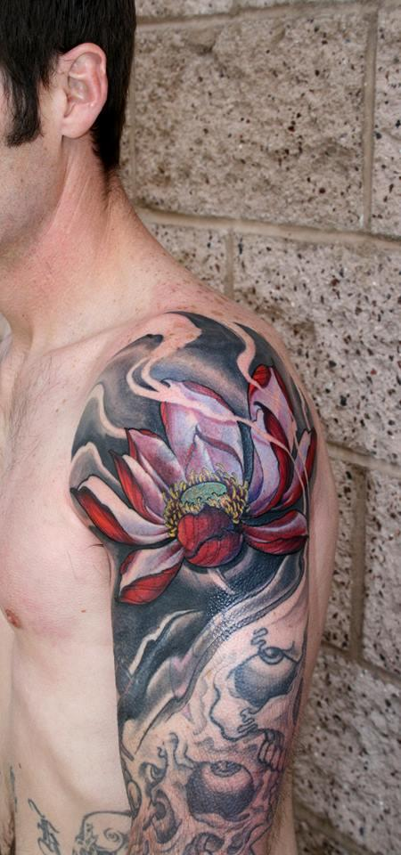 Lotus cover up Tattoo Design Thumbnail