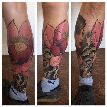 Tattoos - leg sleeve in progress - 123388