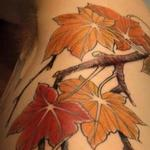 Maple leave branch Tattoo Design Thumbnail