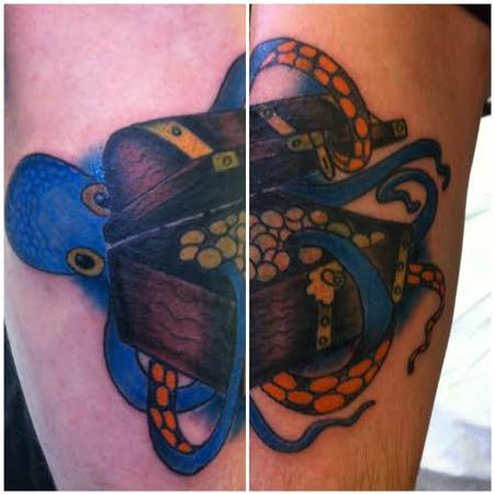 Tattoos - octopus coverup - 91657