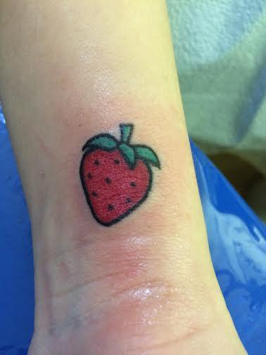 Tattoos - tiny strawberry tattoo - 99442