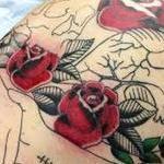 heart skull backpiece tattoo wip Tattoo Design Thumbnail