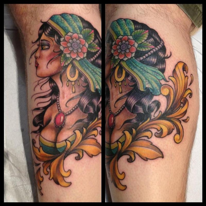 gypsy lady tattoo by jes strickler tattoonow. Black Bedroom Furniture Sets. Home Design Ideas