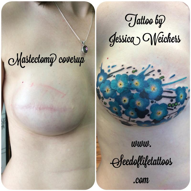 Floral mastectomy coverup by jessica weichers tattoonow