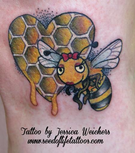 Tattoos - The bees Knees girlie piece - 90006