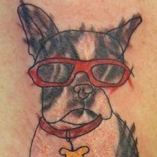 Tattoos - Boston Terrier with Sunglasses - 89796