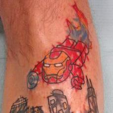 Tattoos - Iron Man and Hulk - 89806