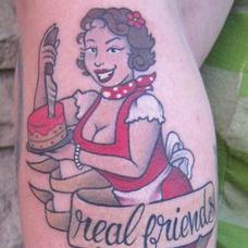 Tattoos - Baking girl - 90010