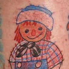 Tattoos - Raggedy Andy Whim - 94122