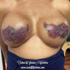 Tattoos - Floral mastectomy coverup - 120225