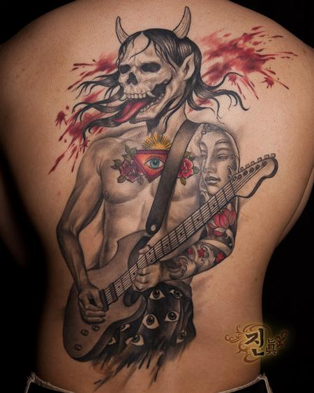 Tattoos - Rock Guitarist with Hannya Mask - 94932