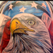 realistic american eagle and flag. Tattoo Design Thumbnail
