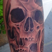 Melting Skull Tattoo Design Thumbnail