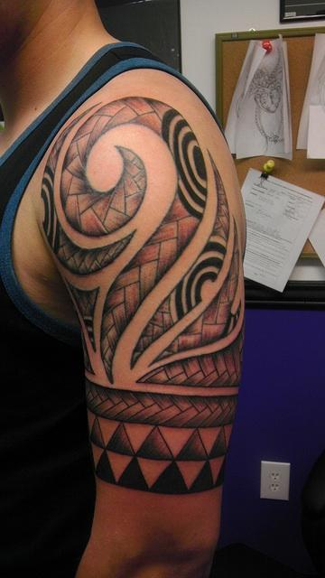 Tattoos - Polynesian Sleeve - 85804