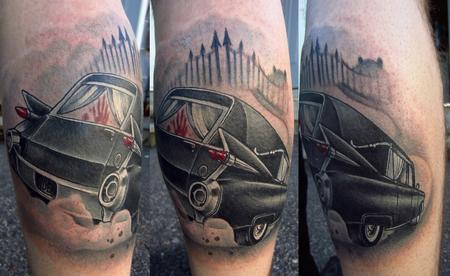 1959 hearse cadillac color dark blood cemetary hot rod leg for Tattoo shops in st cloud mn