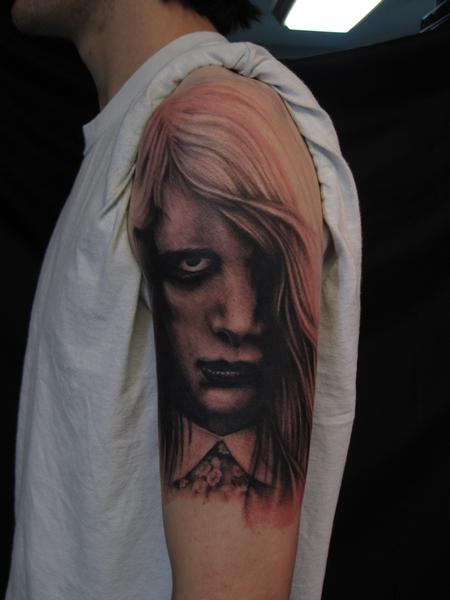 Night of the living dead black and grey arm tattoo by jon for Tattoo shops in st cloud mn