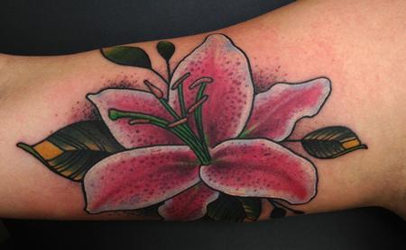 Flower Picture on Worlds Best Tattoos   Tattoos   Jon Von Glahn   Lily Flower