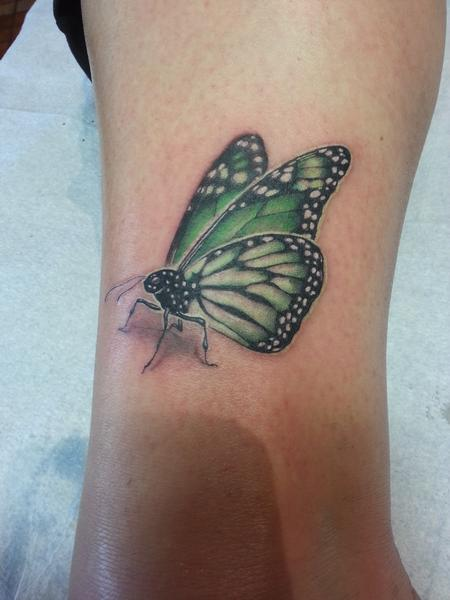 Tattoos - mental health awareness butterfly - 116954