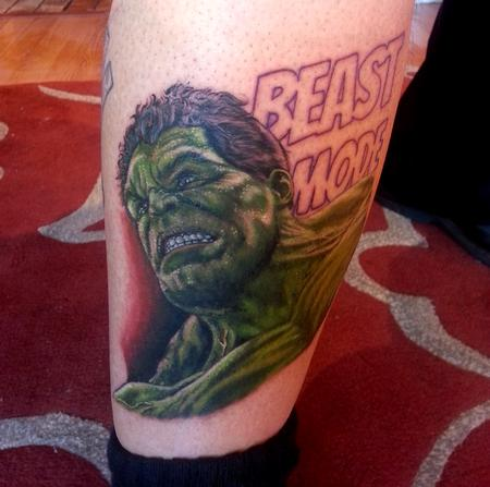 Tattoos - Hulk In Progress - 116996