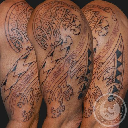 Tattoos - Tribal sleeve in progress - 100301
