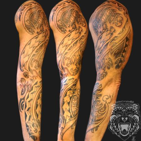 Tattoos - Polynesian, geometric, fingerwaves & filigree - 114897