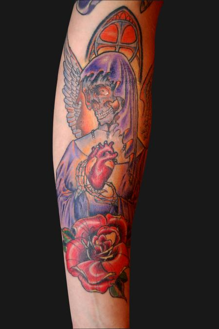 Tattoos - skull angel - 94990
