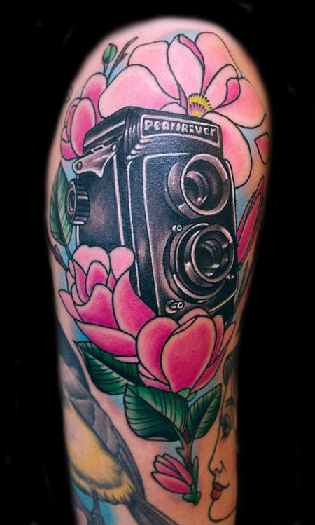Twin Reflex Tattoo Design