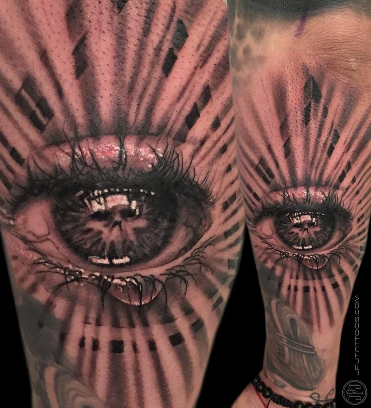 all seeing eye by jose perez jr tattoonow. Black Bedroom Furniture Sets. Home Design Ideas
