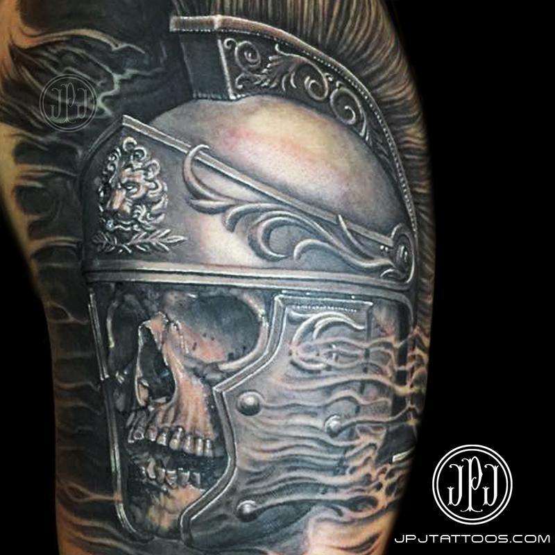 Roman Soldier Skull by Jose Perez Jr: TattooNOW
