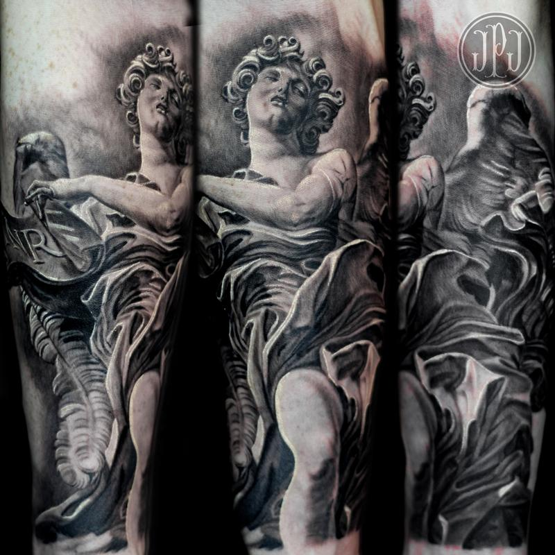 Bernini Angel Statue by Jose Perez Jr: TattooNOW