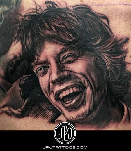 Mick Jagger Portrait  Tattoo Design