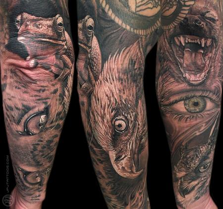 Tattoos - Wildlife Half Sleeve - 116866