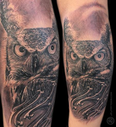 Tattoos - Owl & Bones - 116560