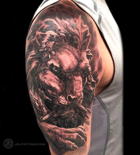 Tattoos - Lion Statue - 116863