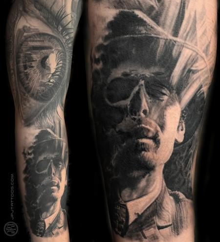 Tattoos - Eye and Skull Face Healed - 116562