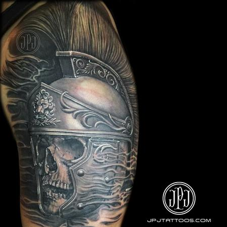 Tattoos - Roman Soldier Skull - 101448