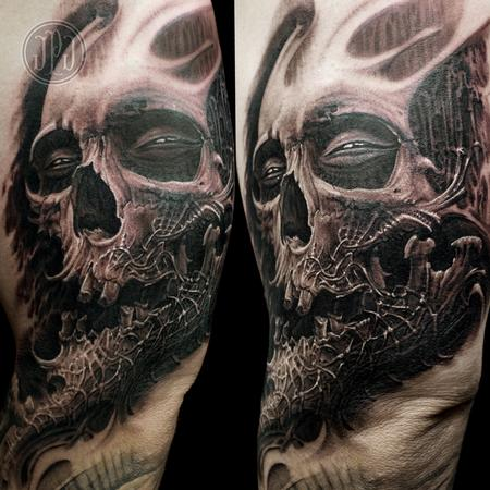 Tattoos - Skull Textured Jaw - 99254