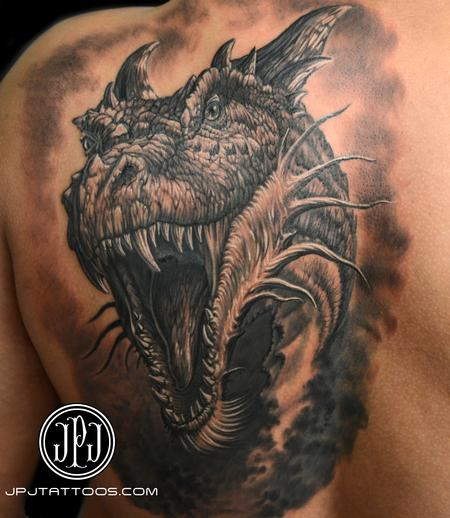 Tattoos - Dragon Freehand Inspired by art by John E. Kaufmann - 109172