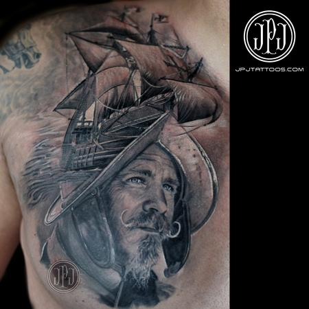 Tattoos - Conquistador and Ship - 106699