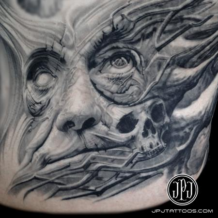 Textured Man healed Tattoo Design Thumbnail
