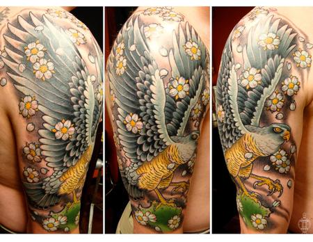 Blue Falcon half sleeve Tattoo Design Thumbnail