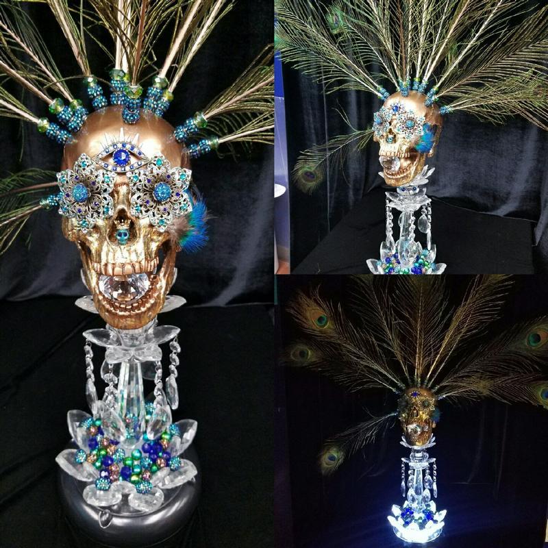 Darc Clements - Peacock Skull