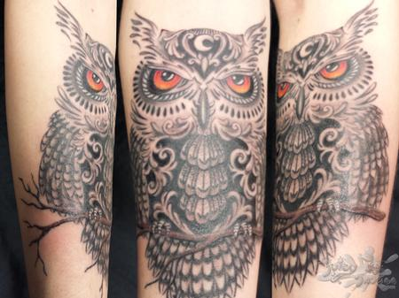 Tattoos - Owl - 114921