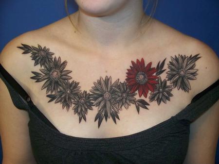 Tattoos - Flower Tattoo - 100748